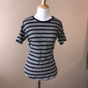 Madewell Perfect Navy & Grey Horizontal Stripe Tee
